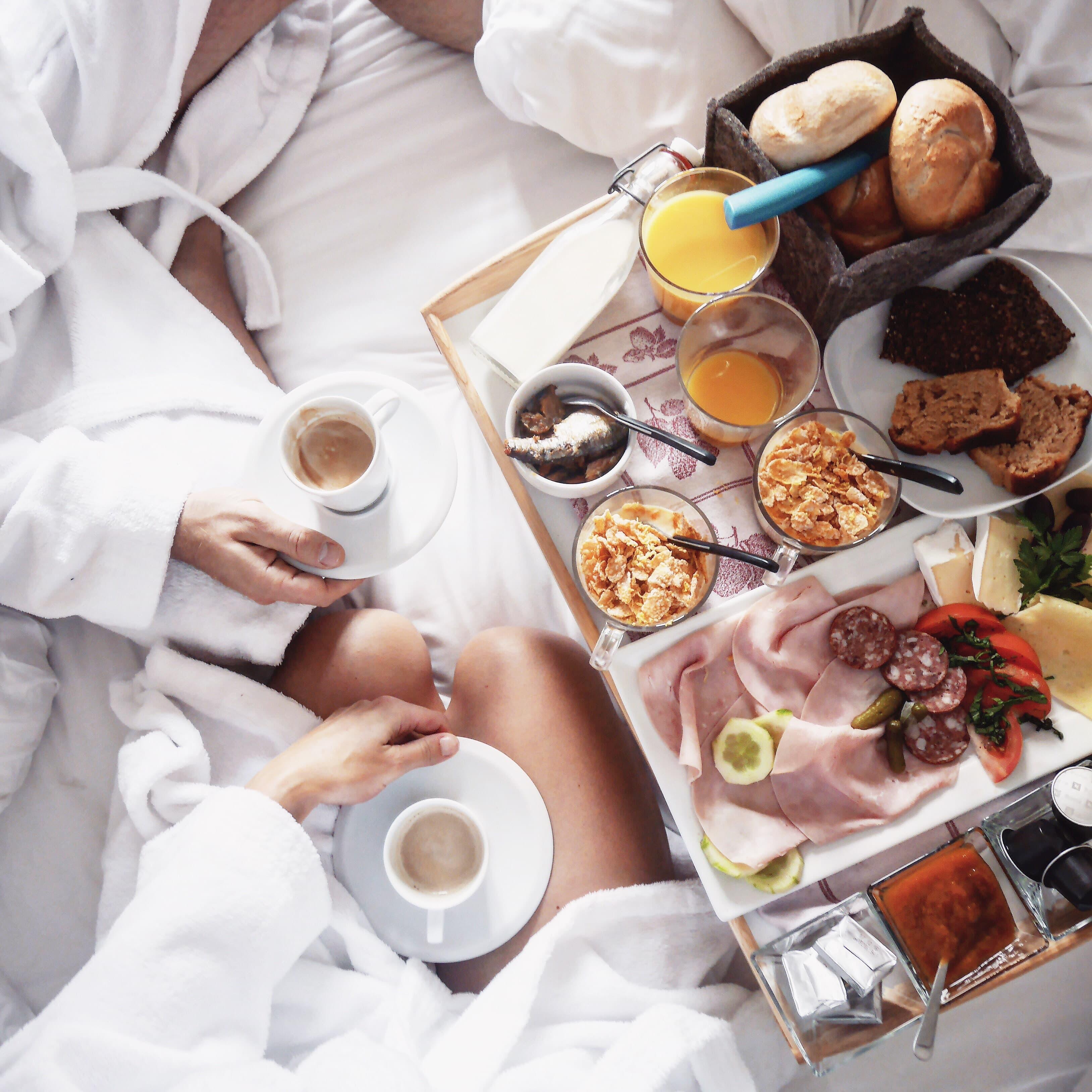 Our breakfast in Hallstatt Hideaway