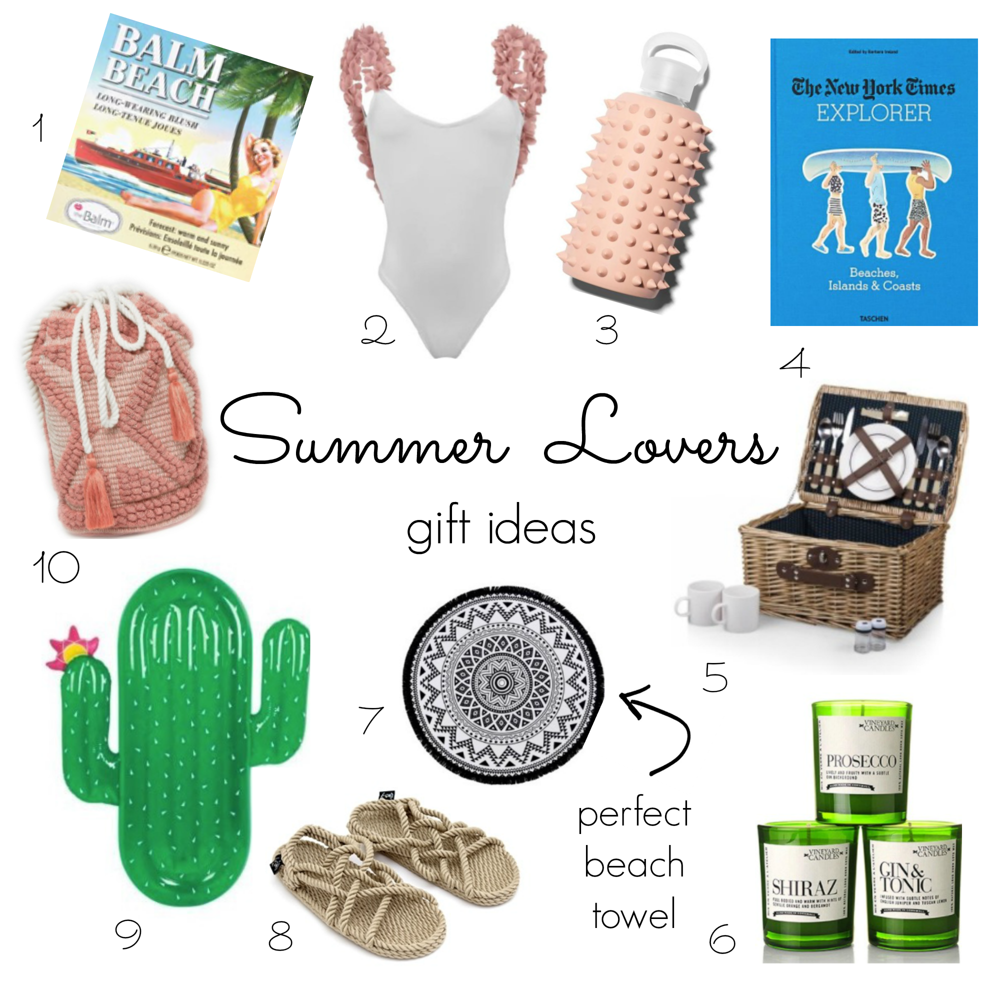 Summer lovers Christmas gifts ideas