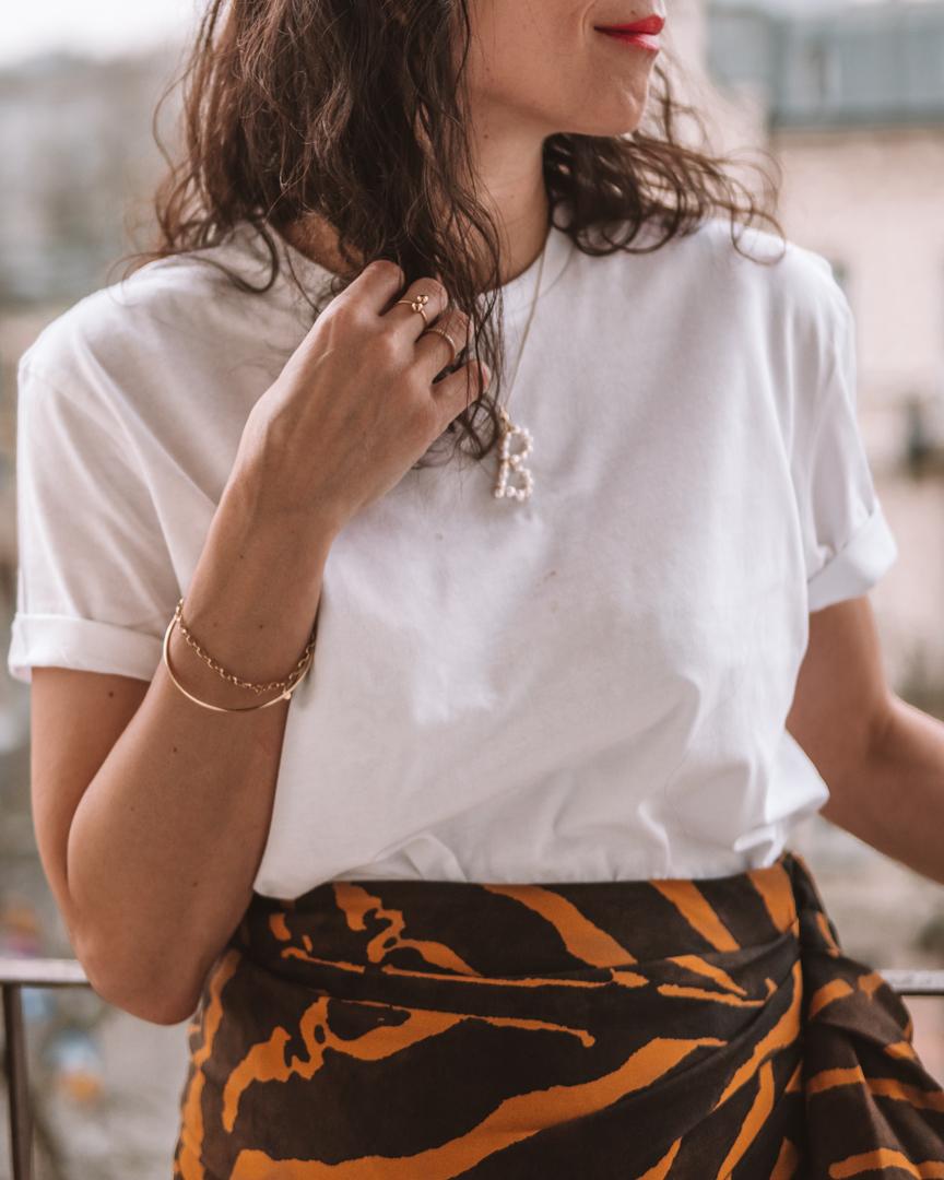 HM Studio Collection-animal print skirt