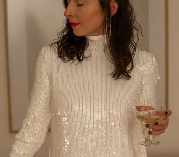 white sequin dress-Betty On The Go